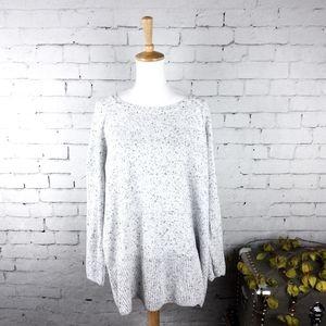 Calvin Klein Heathered Sweater White 20W